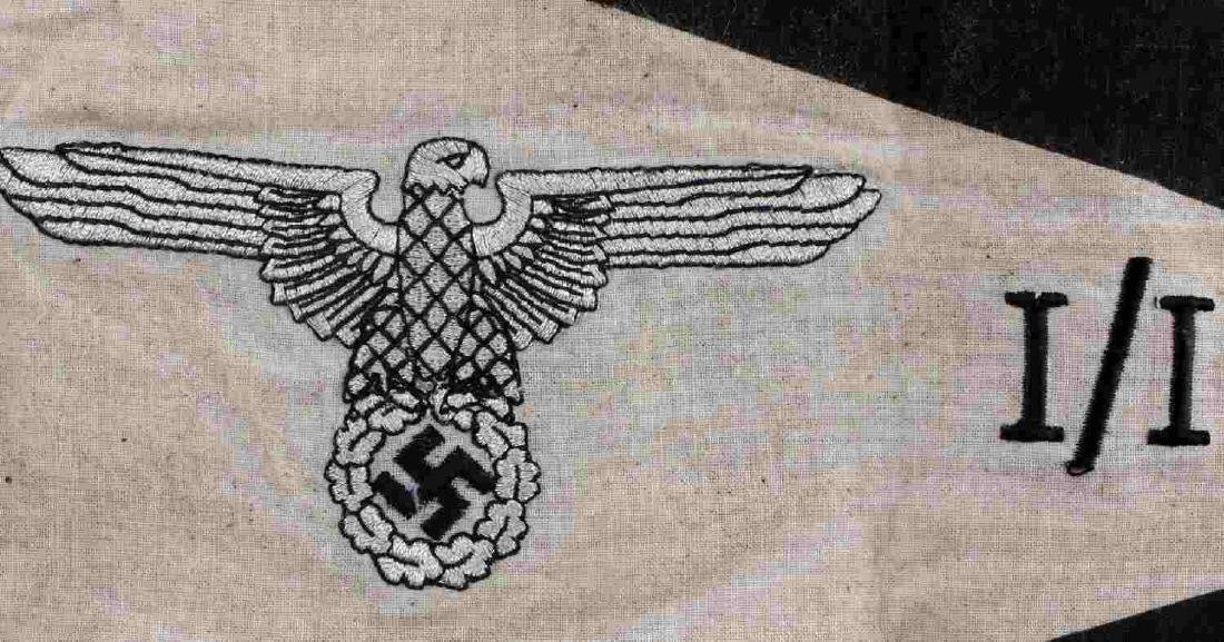 WWII GERMAN THIRD REICH SS FIELD COMMAND PENNANT - 2
