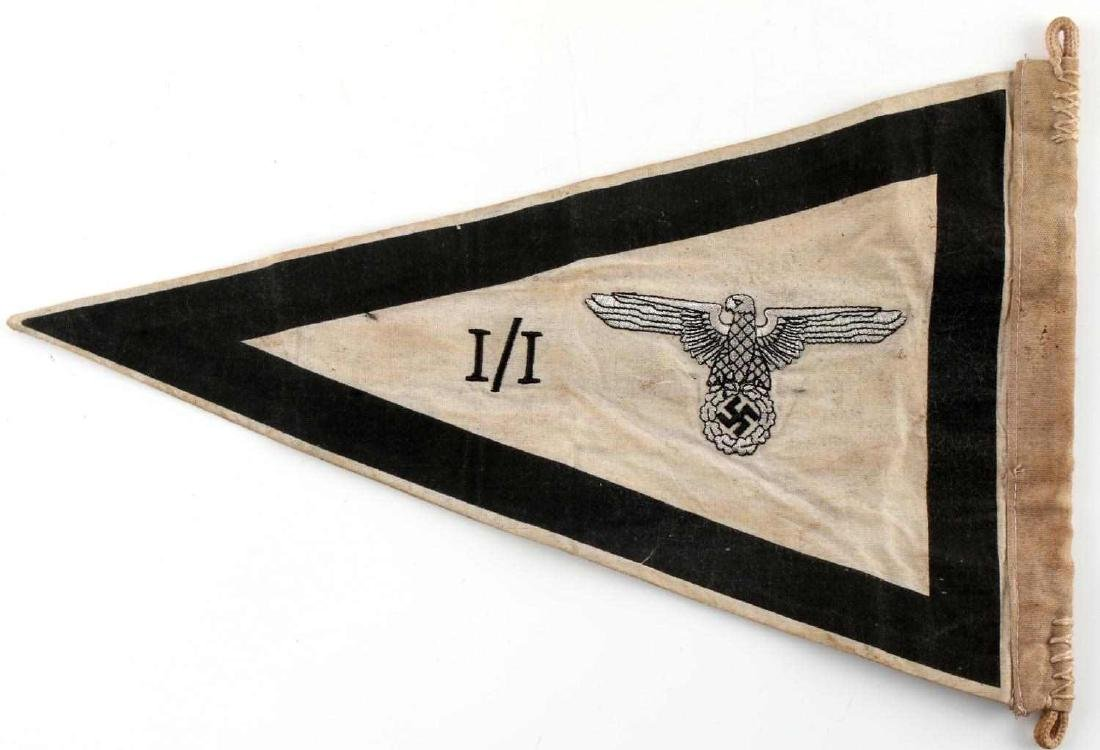 WWII GERMAN THIRD REICH SS FIELD COMMAND PENNANT - 5