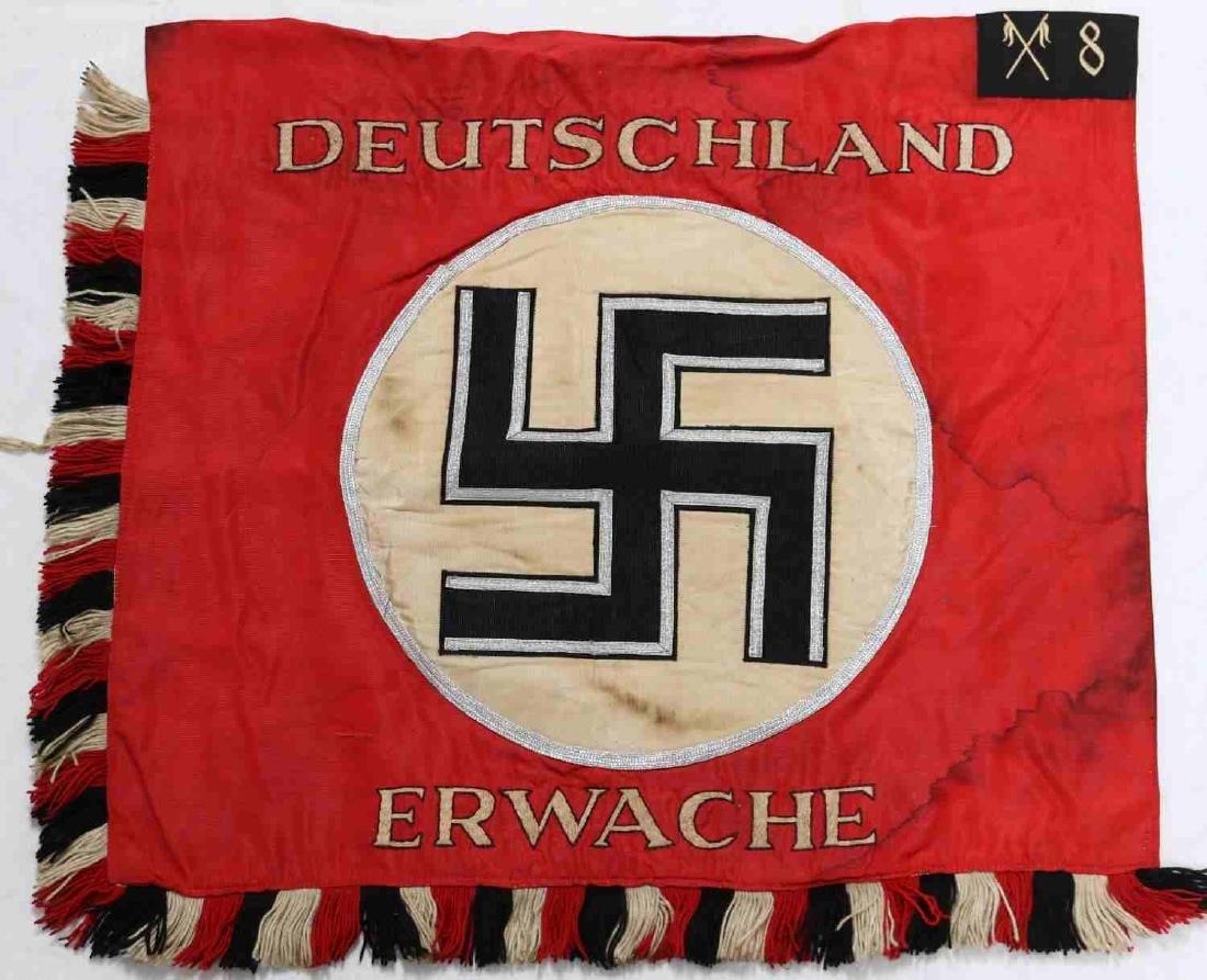 WWII GERMAN THIRD REICH SS SA CAVALRY STANDARD
