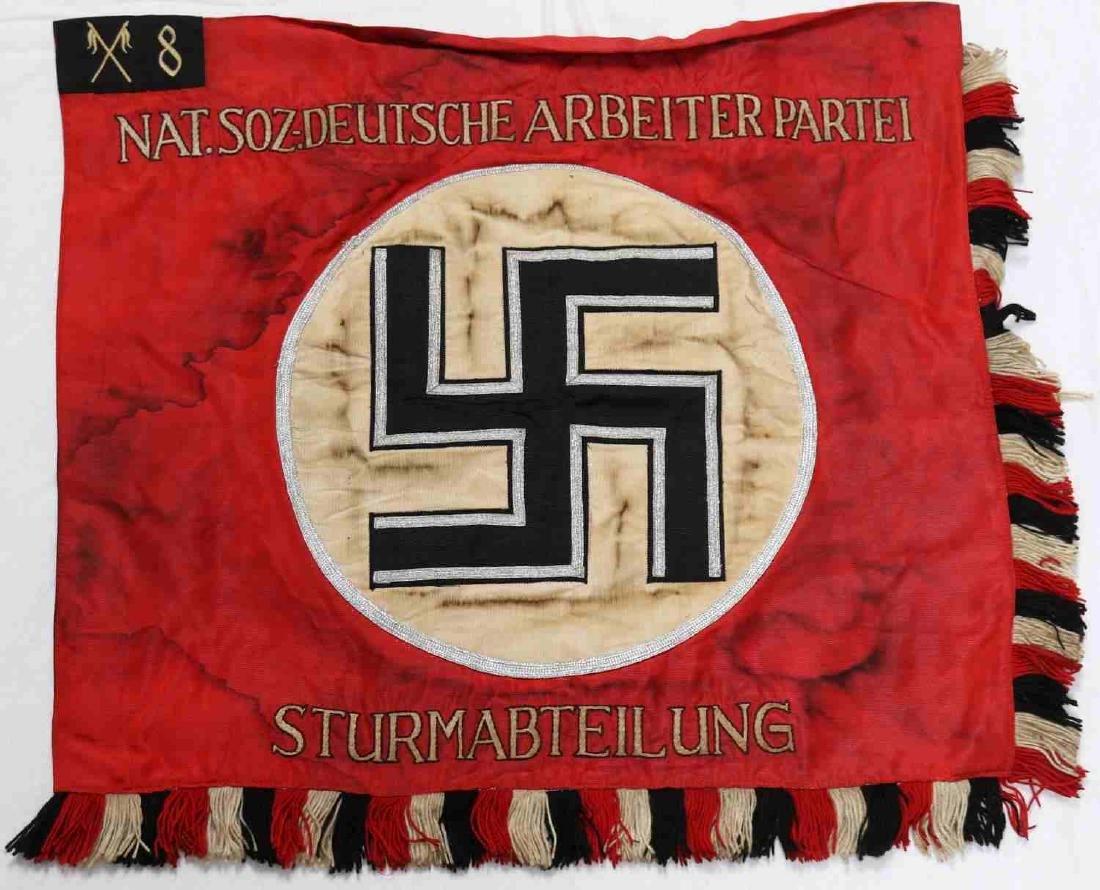 WWII GERMAN THIRD REICH SS SA CAVALRY STANDARD - 5