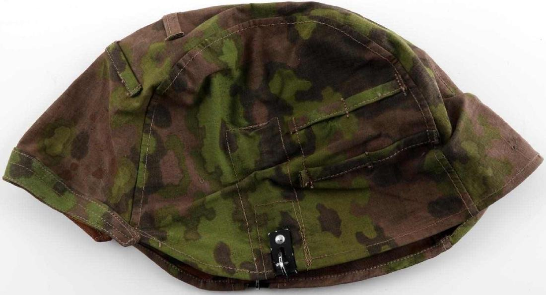 WWII GERMAN THIRD REICH SS CAMO HELMET COVER OAK