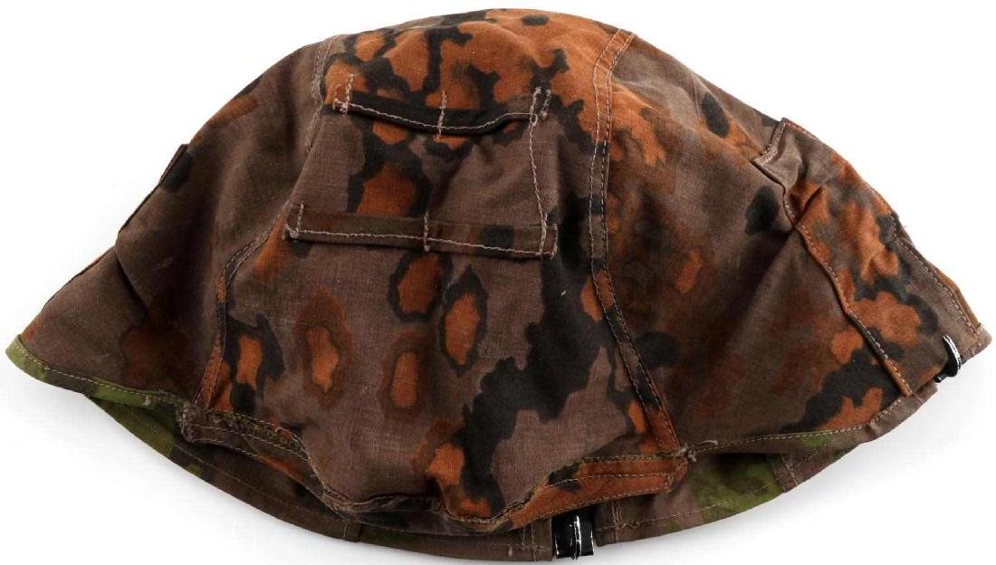 WWII GERMAN THIRD REICH SS CAMO HELMET COVER OAK - 8