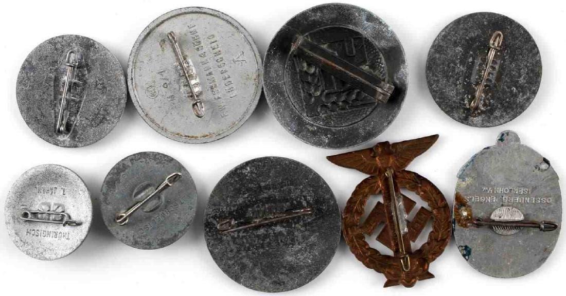 WWII THIRD REICH GERMAN TINNIES BADGES PINS LOT - 10