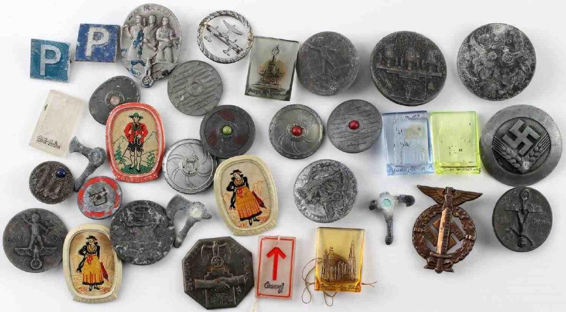 WWII THIRD REICH GERMAN TINNIES BADGES PINS LOT