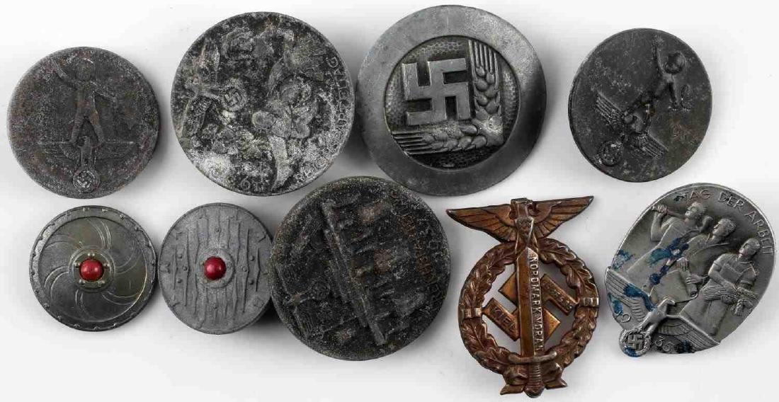 WWII THIRD REICH GERMAN TINNIES BADGES PINS LOT - 9