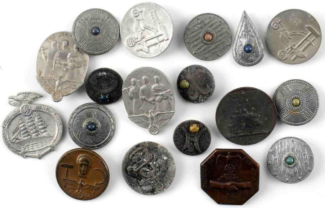 WWII THIRD REICH GERMAN TINNIES BADGES PINS LOT - 2