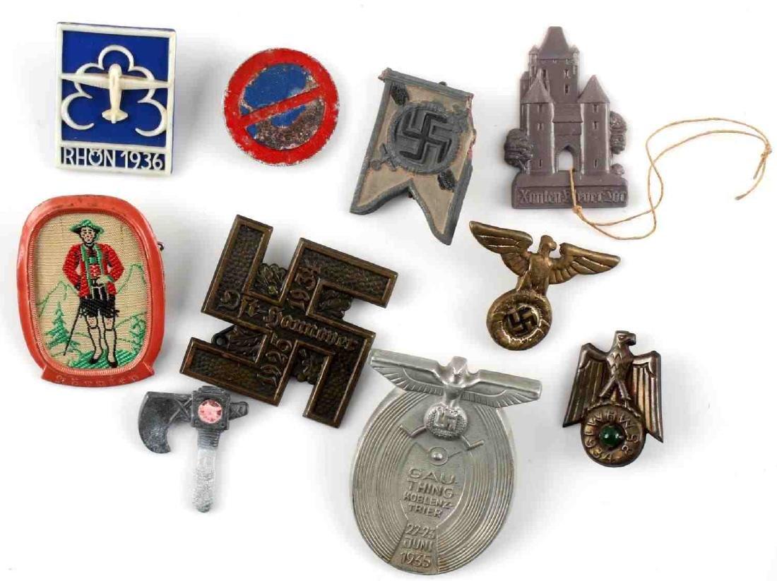 WWII THIRD REICH GERMAN TINNIES BADGES PINS LOT - 6