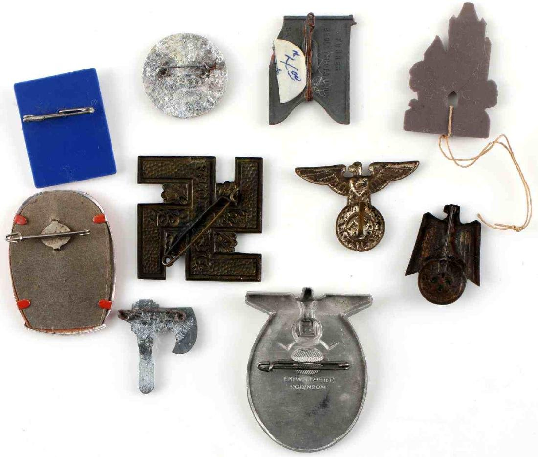 WWII THIRD REICH GERMAN TINNIES BADGES PINS LOT - 7