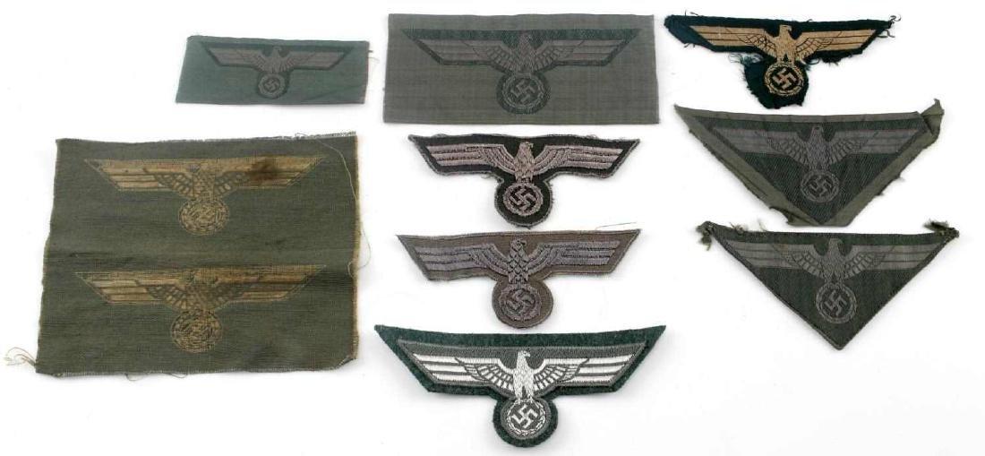 WWII GERMAN THIRD REICH REICHSADLER PATCH LOT