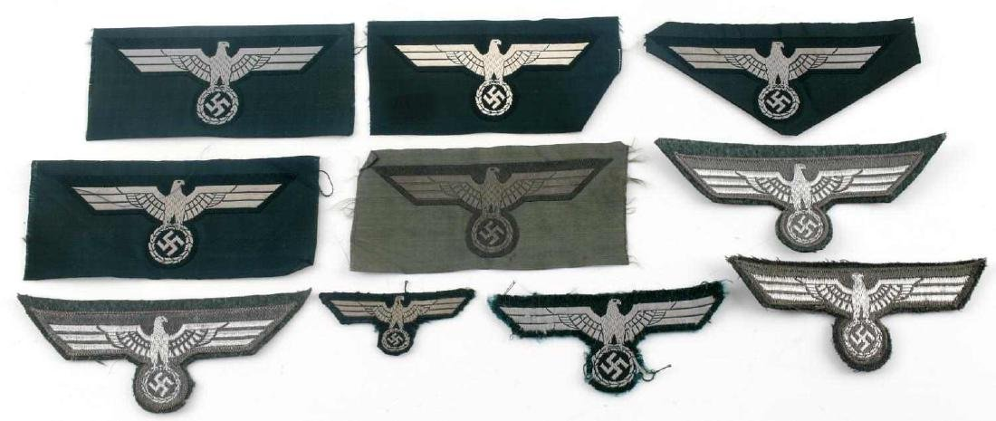 WWII GERMAN THIRD REICH REICHSADLER PATCH LOT