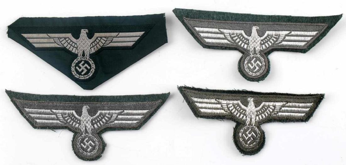 WWII GERMAN THIRD REICH REICHSADLER PATCH LOT - 4
