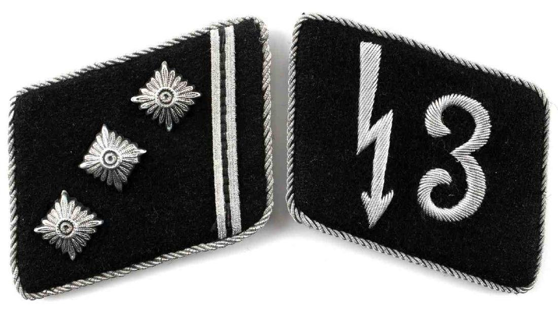 EARLY WWII SS NSDAP 3RD SIGNALS DIV. COLLAR TABS