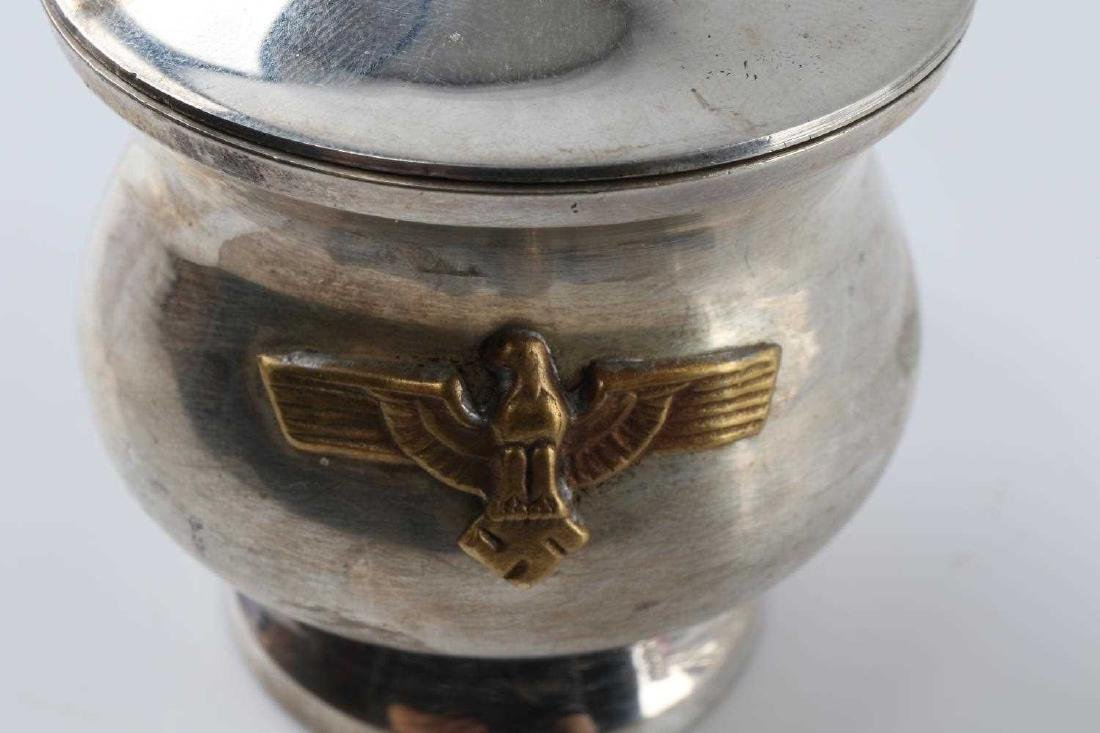 WWII THIRD REICH SILVER PLATE CREAMER & SUGAR BOWL - 5