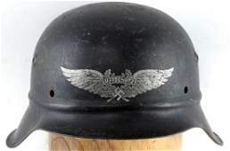 WWII GERMAN M 42 BEADED LUFTSCHUTZ HELMET