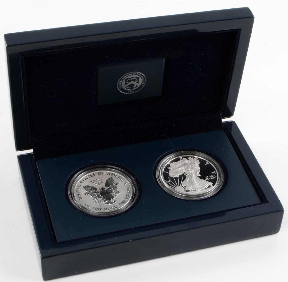 SILVER EAGLE SAN FRANCISCO MINT TWO COIN PROOF SET