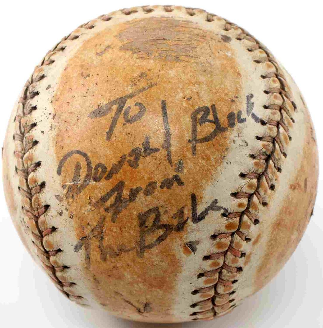 VINTAGE LEATHER SOFTBALL BABE RUTH SIGNATURE