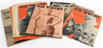 WWII GERMAN DIE WOCHE FILMWELT MAGAZINE LOT OF 10