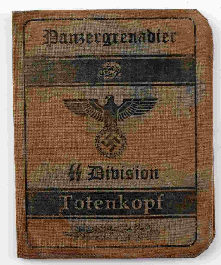 WWII GERMAN THIRD REICH SS TOTENKOPF DIV AUSWEIS