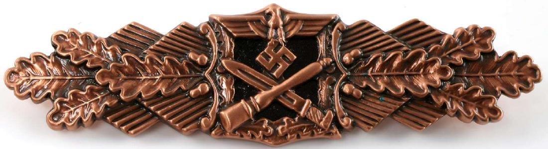 WWII THIRD REICH GERMAN CLOSE COMBAT BADGE BRONZE
