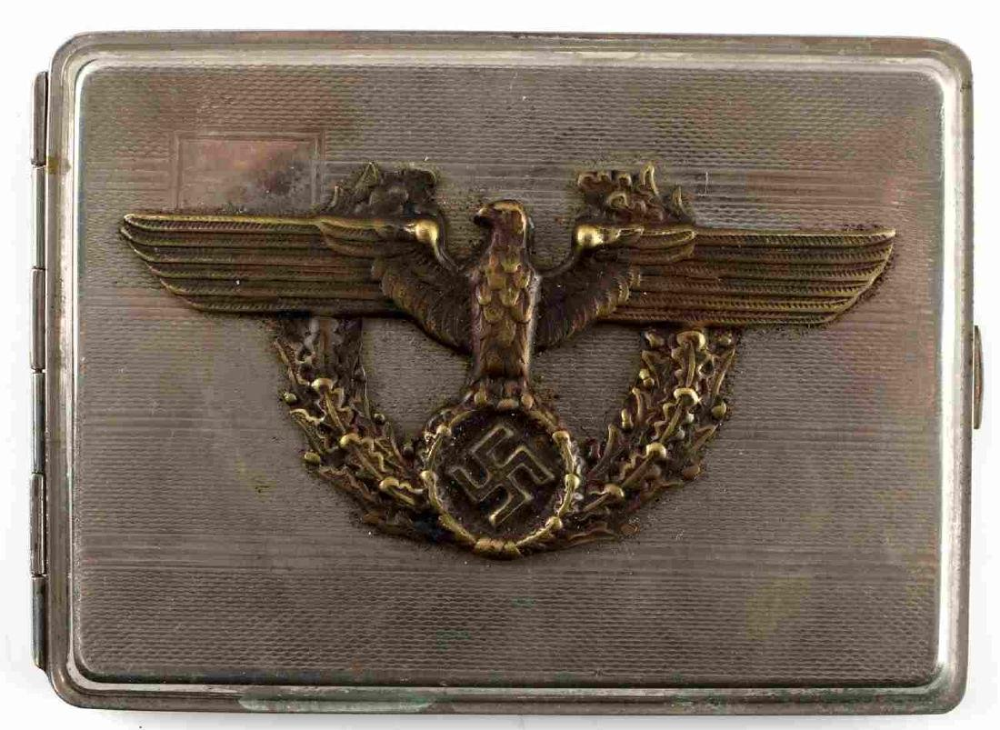 WWII GERMAN THIRD REICH SS POLICE CIGARETTE CASE