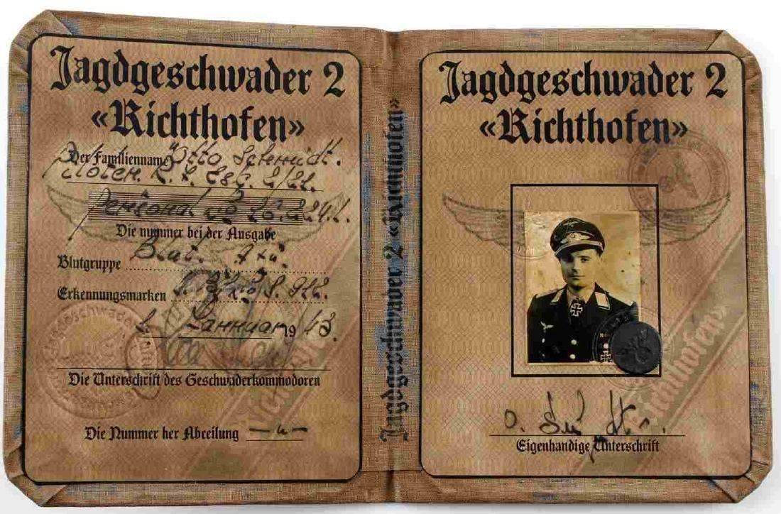 WWII GERMAN THIRD REICH LUFTWAFFE PILOT AUSWEIS ID