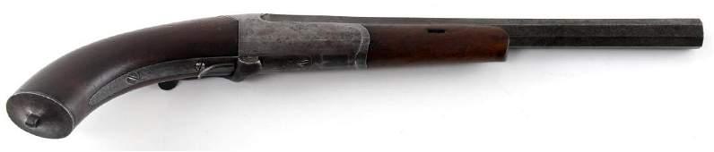 ANTIQUE .38 CAL. FLOBERT SINGLE SHOT TARGET PISTOL