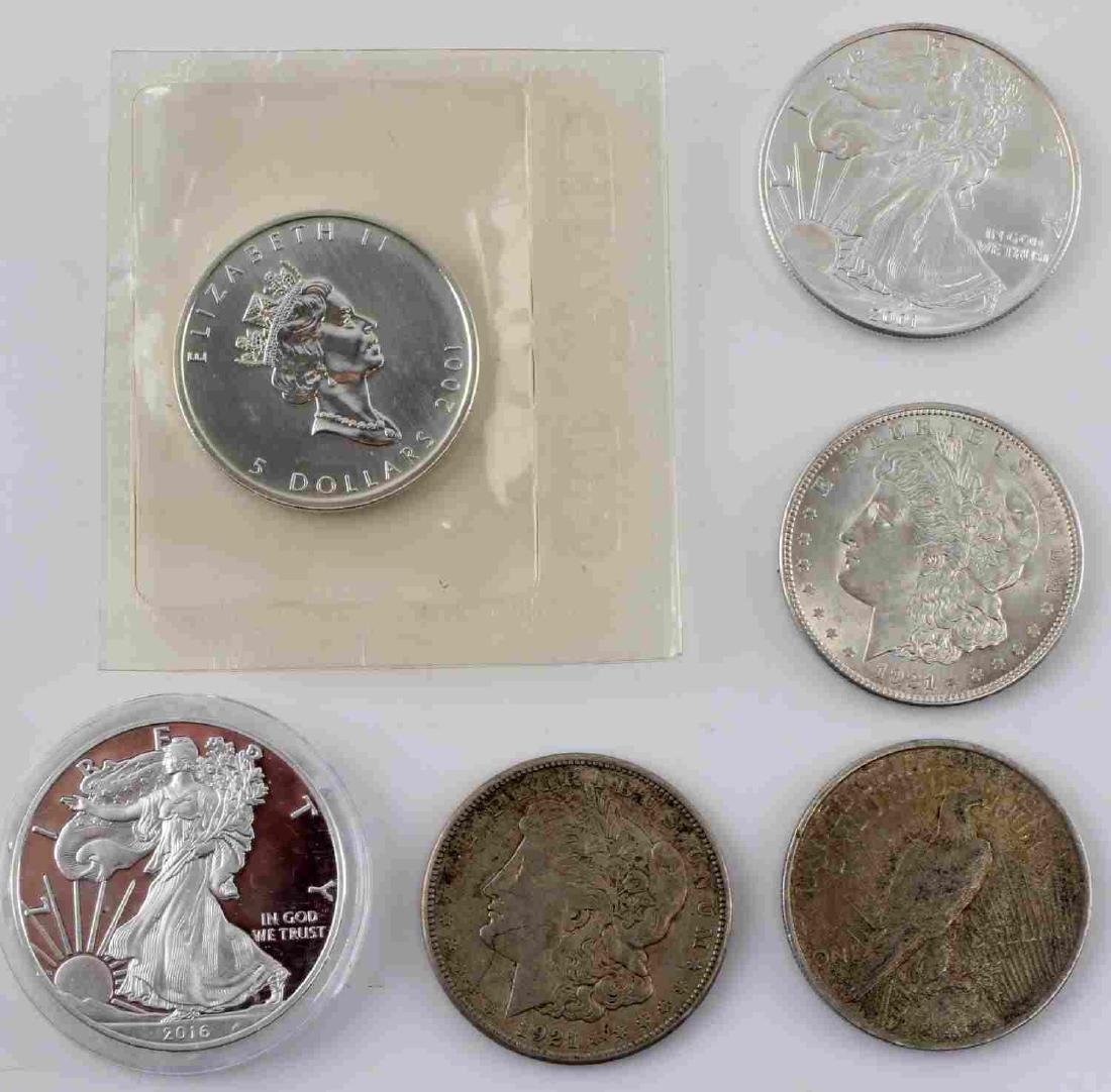 COIN LOT PROOF UNC EAGLE MORGAN SILVER MAPLE LEAF