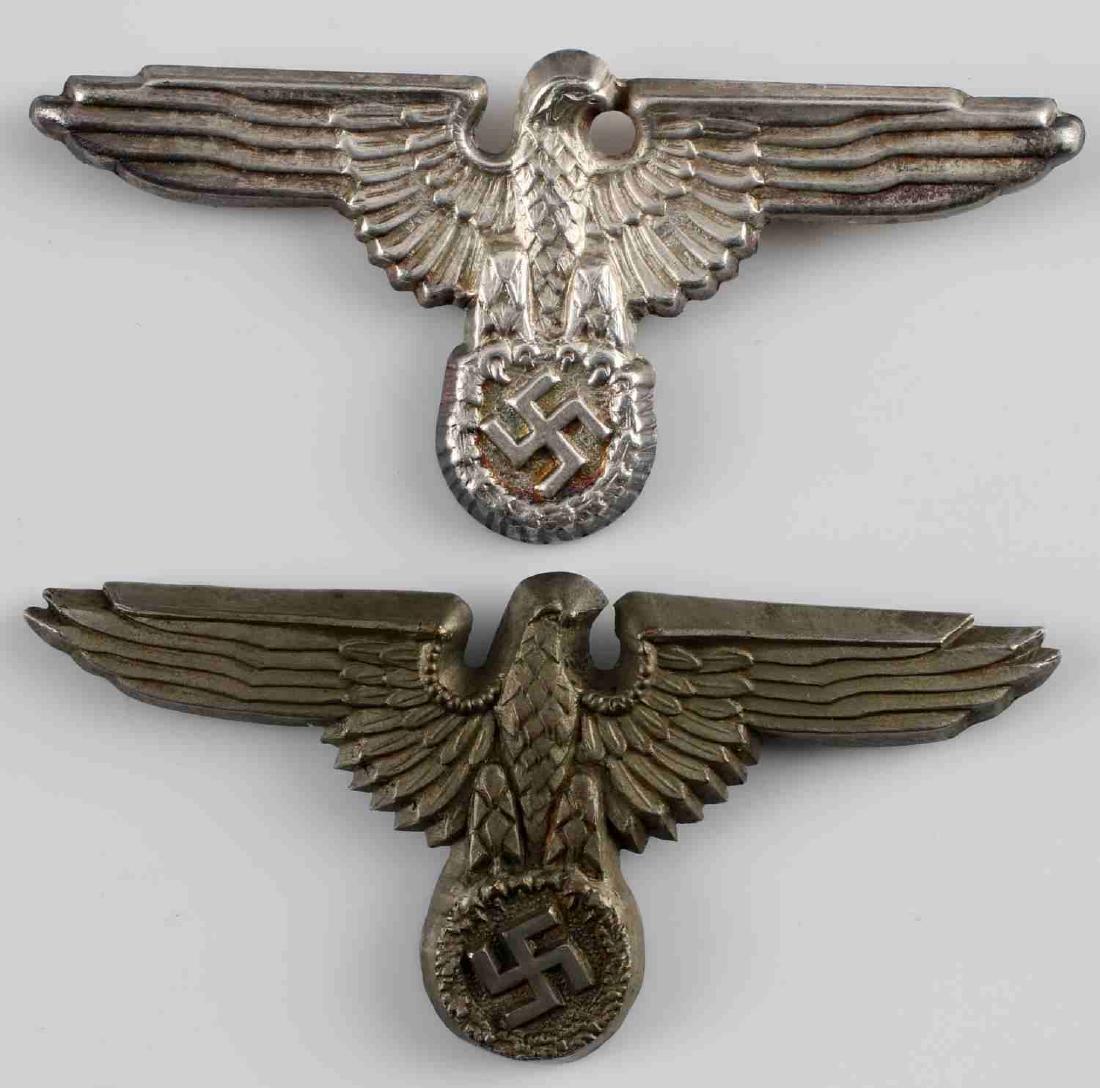 WWII GERMAN THIRD REICH REICHSADLER CAP BADGE LOT