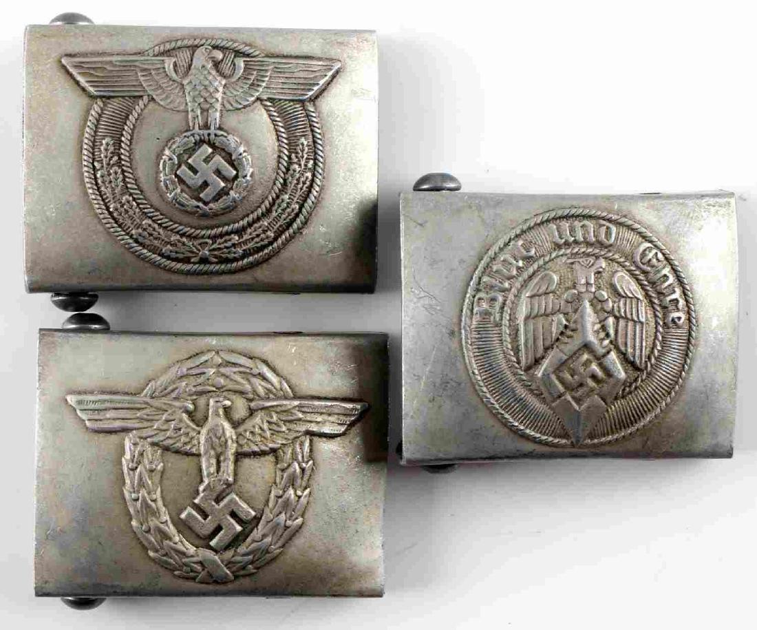 WWII GERMAN THIRD REICH BELT BUCKLE LOT OF 3