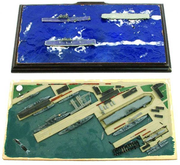 LOT OF 3 US NAVY WWII DIORAMAS AND DISPLAYS
