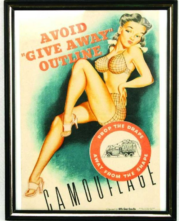 RISQUE MILITARY PROPAGANDA WWII PULLOUT PIN UP