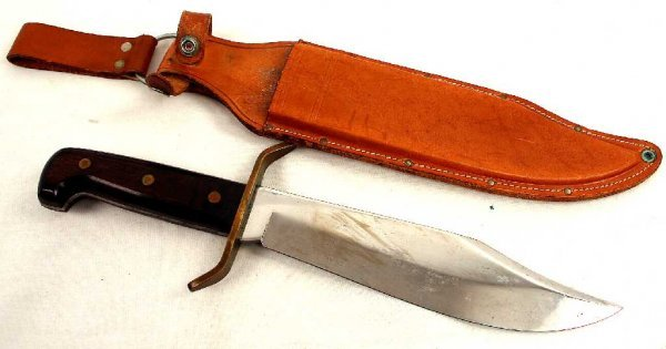 WESTERN USA BOWIE KNIFE W49 AND CASE SCABBARD