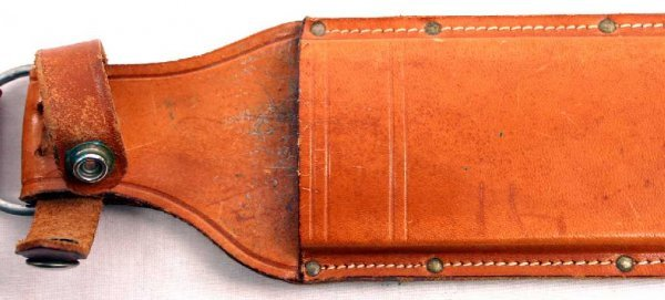 WESTERN USA BOWIE KNIFE W49 AND CASE SCABBARD - 7