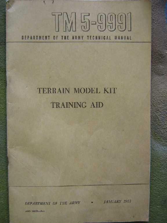 US ARMY TERRAIN MODEL KIT TRAINING AID TABLE KOREA - 4