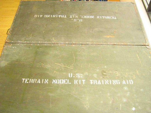 US ARMY TERRAIN MODEL KIT TRAINING AID TABLE KOREA - 8