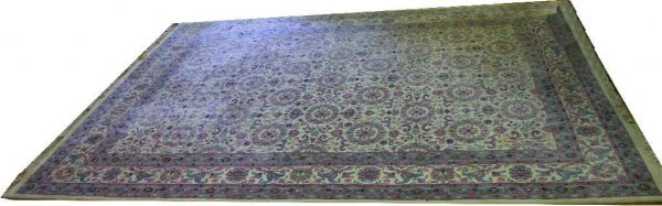 IRANIAN HAND-WOVEN FINE WOOL AREA RUG CARPET 13X10