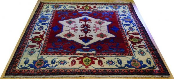 PERSIAN RUG TABRIZ TRIBAL ANIMAL CARPET