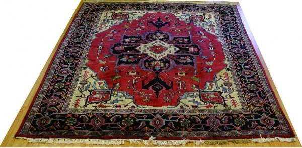 PERSIAN CARPET HAND TIED RUG TRIBAL ZOOMORPHIC