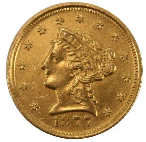1877 $2.50 LIBERTY GOLD COIN