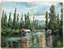 THERESE KNOWLES BACKUS HIGHWAYMEN OIL PAINTING