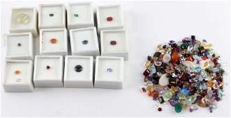 49508 TCW OF ASSORTED LOOSE DIAMOND GARNET RUBY