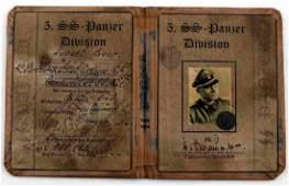 WWII GERMAN NSDAP SS PANZER DIV VIKING AUSWEIS ID