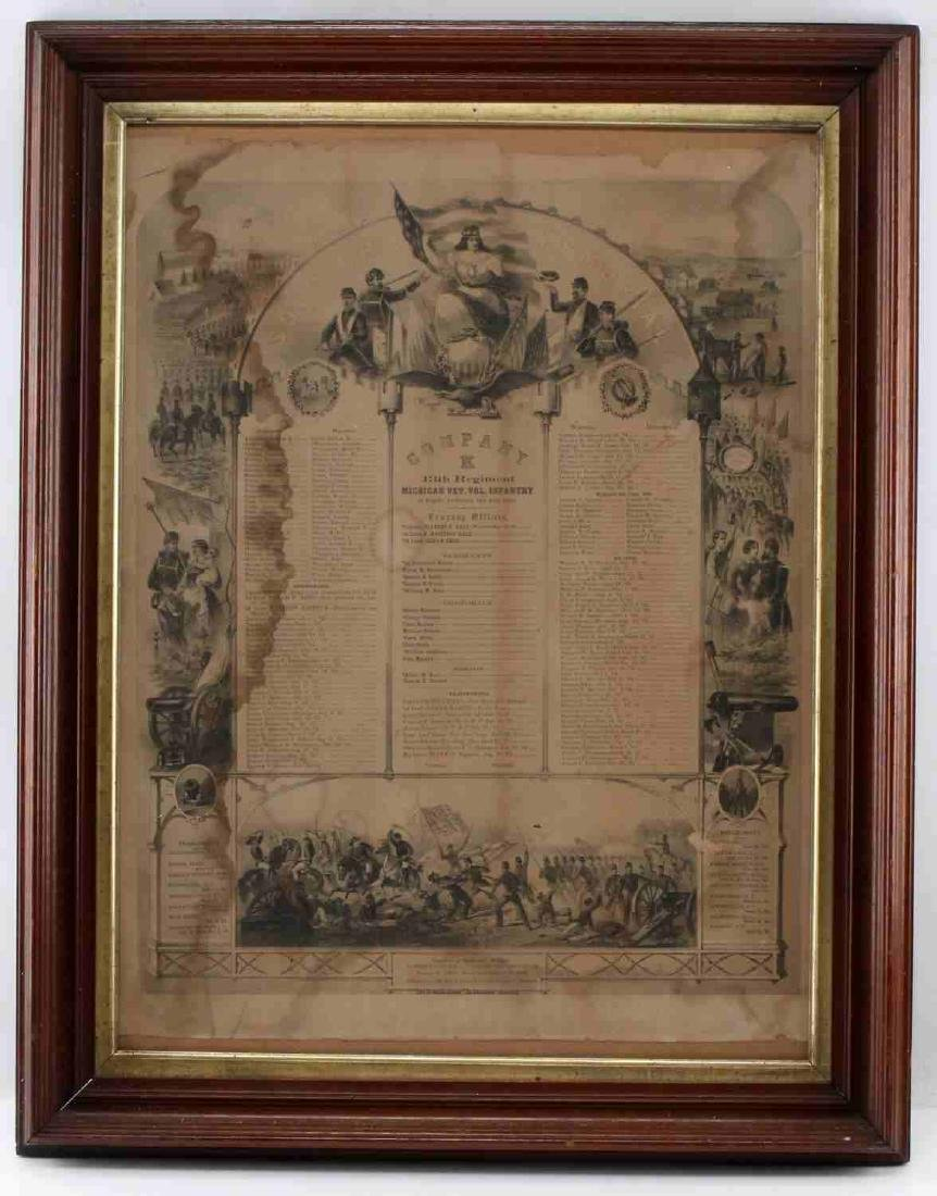 CIVIL WAR 13TH MICHIGAN REGIMENT MEMORIAL