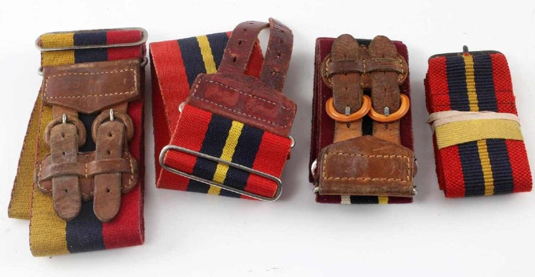 POST WWII BRITISH MILITARY STABLE BELT LOT OF 4
