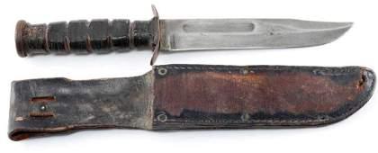 WWII USMC CAMILLUS NY FIGHTING KNIFE WITH SHEATH