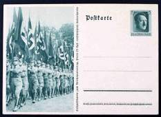 WWII GERMAN THIRD REICH RALLY PHOTO POSTCARD BLANK