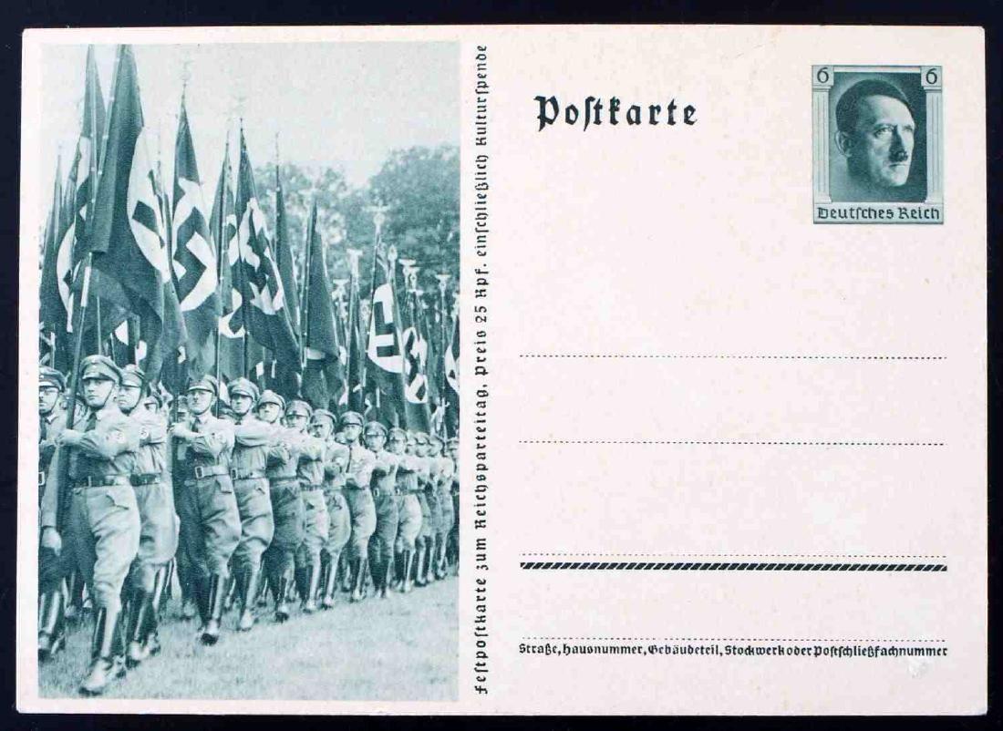 WWII GERMAN THIRD REICH RALLY PHOTO POSTCARD BLANK