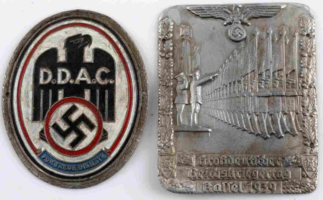 WWII GERMAN THIRD REICH SHIELD BADGE LOT OF TWO