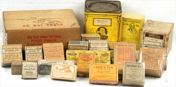 ANTIQUE APOTHECARY HOMEOPATHIC DRIED HERBS