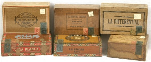 SEALED ANTIQUE WOOD CIGAR BOX CORONAS CASA BLANCA